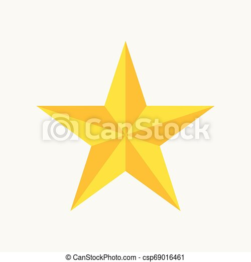 Star icon, trendy flat favorite design on blue background - csp69016461