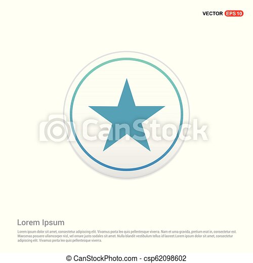 Star Icon - white circle button - csp62098602