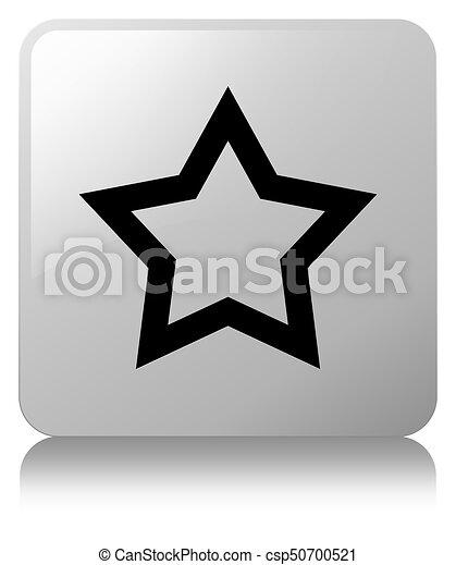 Star icon white square button - csp50700521
