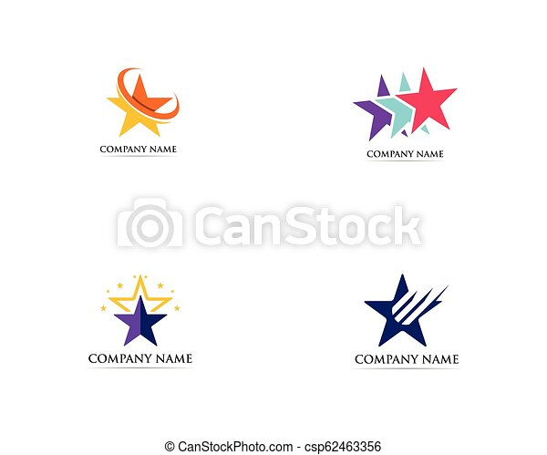Star logo vector template success