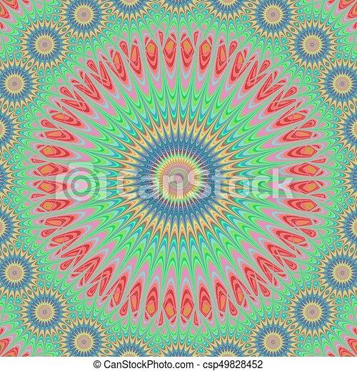 Star mandala fractal design background - csp49828452