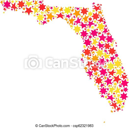 Star Mosaic Map of Florida State