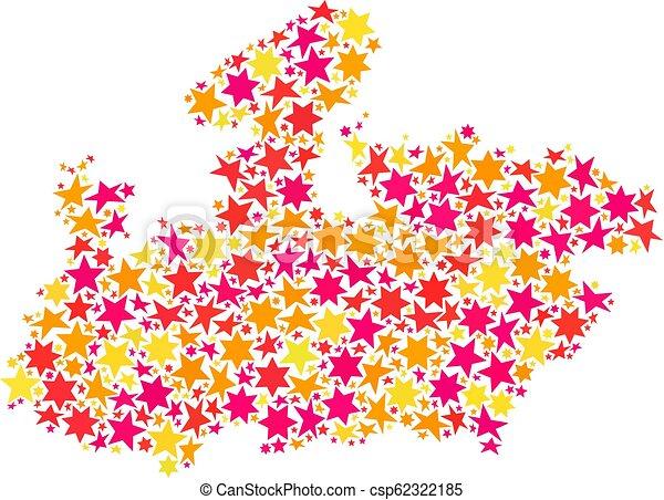 Star Mosaic Map of Madhya Pradesh State on jharkhand state map, gujarat state map, orissa state map, bihar state map, haryana state map, chhattisgarh state map, kerala state map, assam state map, tamil nadu state map, telangana state map, bengal state map, maharashtra state map, karnataka state map, punjab state map, uttaranchal state map, andhra state map,