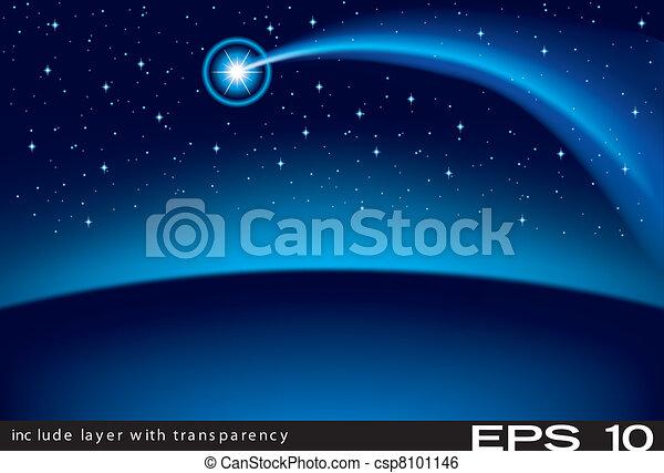 Star of Bethlehem - Christmas Backg - csp8101146