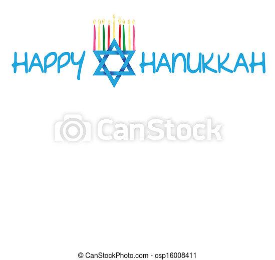 Star of David and Menorah Hanukkah - csp16008411