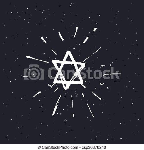 Star of David - csp36878240