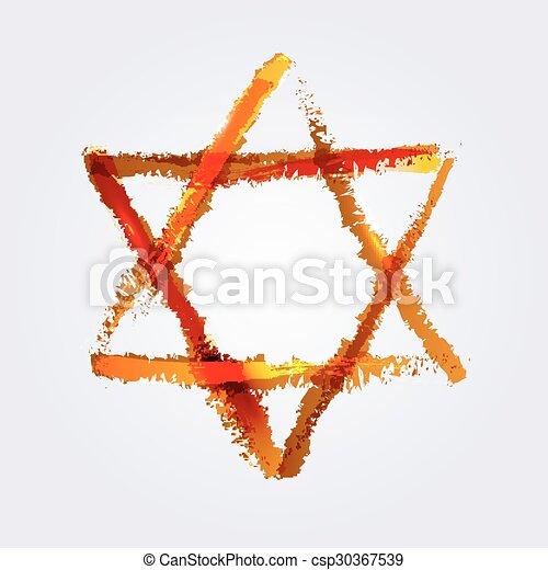 star of David - csp30367539