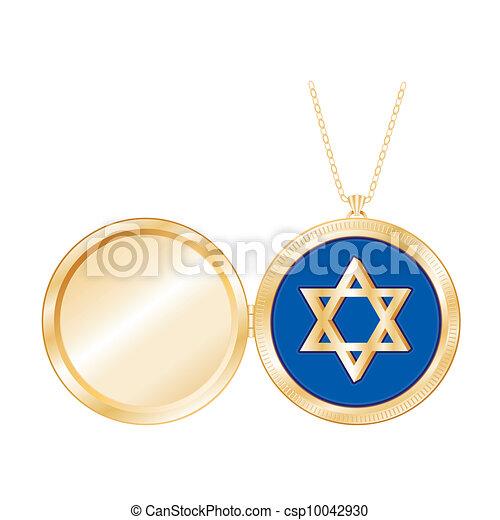 Star of david gold locket necklace star of david in gold star of david gold locket necklace csp10042930 aloadofball Images