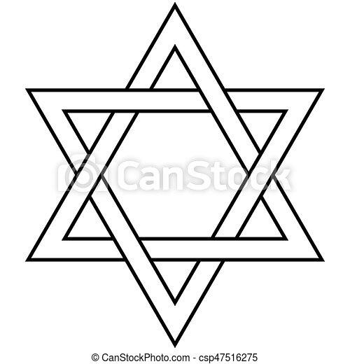 Judaism Symbol Golden Star Of David Symbol Of The Jewish Eps