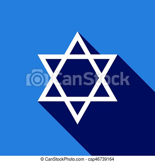 Star Of David Icon With Long Shadow Adobe Illustrator