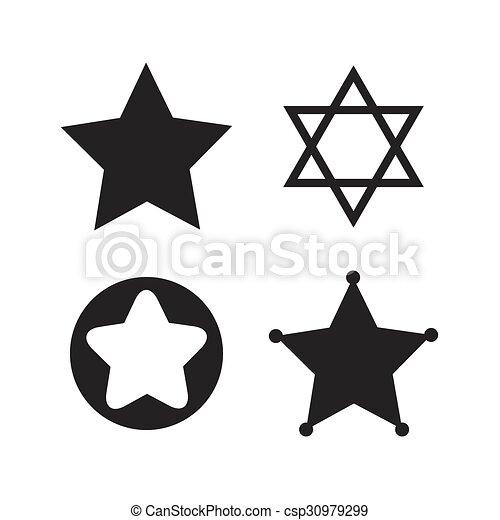 Star Of David Icons Symbol Of Israel Star Of David Icons Sheriff