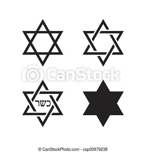 Star Of David Icons Symbol Of Israel Star Of David Sign Icons