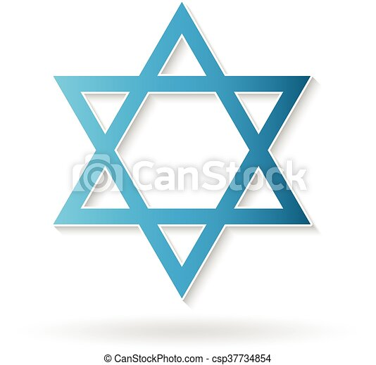 Star of David, judaism symbol. Vector design - csp37734854