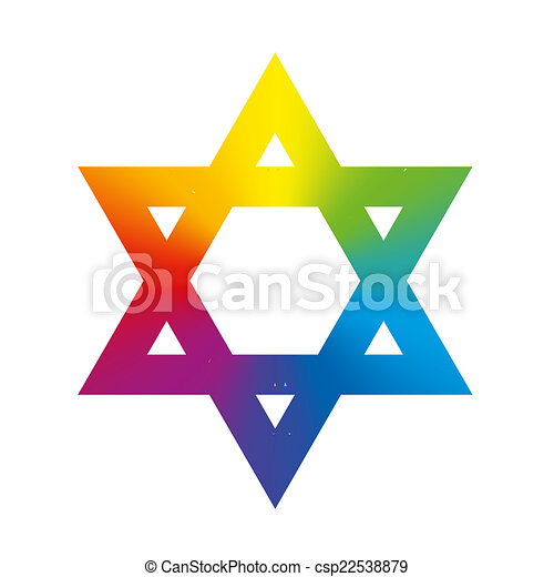 star of david rainbow gradient whit star of david symbol vectors rh canstockphoto com Star Border Clip Art Star Background Clip Art