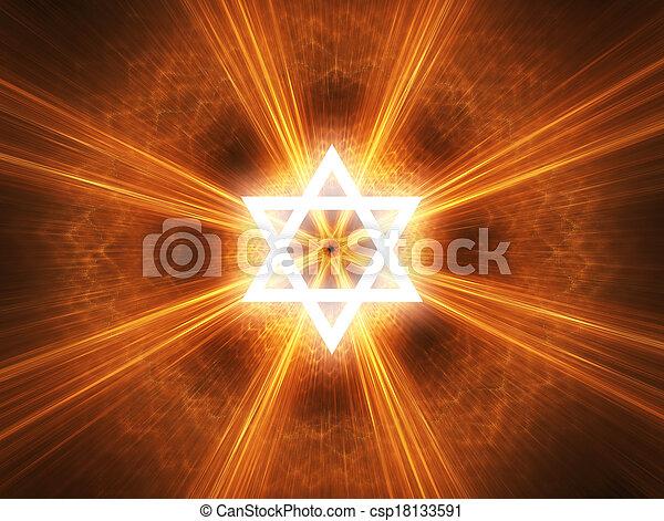 Star of David - csp18133591