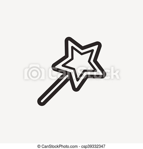 Eps vector of star outline icon star icon of brown outline for vector star outline icon sciox Images