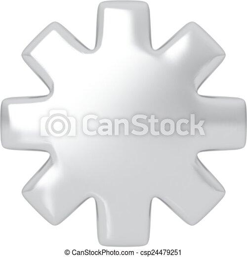 Estrella de plata. - csp24479251