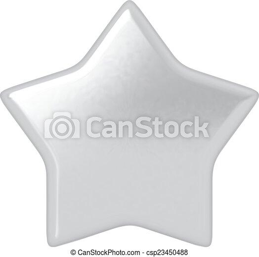 Estrella de plata. - csp23450488