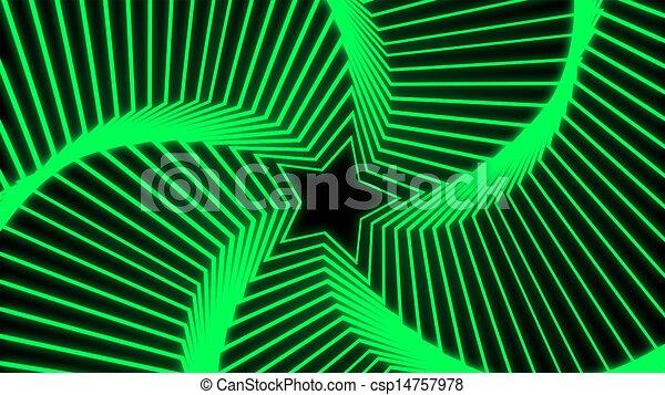 Star Radiation green - csp14757978