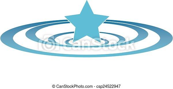 Star Ripples - csp24522947