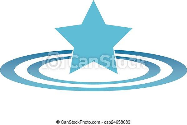 Star Ripples (Flat) - csp24658083