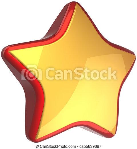 star shape golden with red border golden star shape luxury symbol rh canstockphoto com