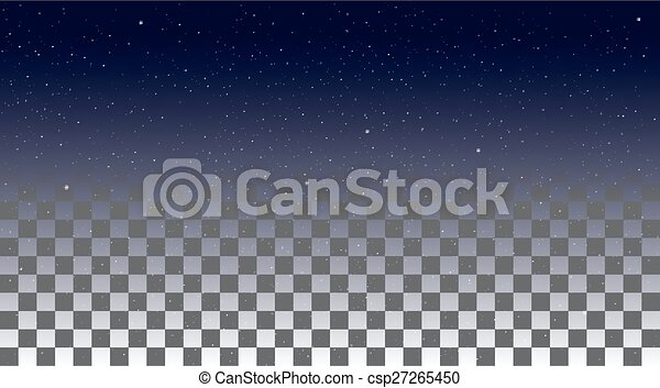 Star Sky on a transparent background - csp27265450