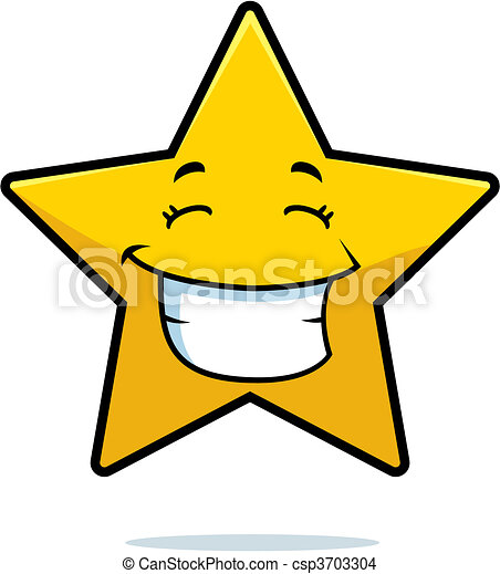 star smiling a cartoon gold star happy and smiling rh canstockphoto com