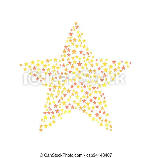 Star Symbol Consists Of Small Stars This Is Star Symbol Consists Of