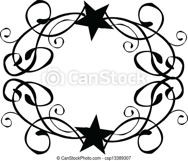 star tribal border frame vector vector clipart search illustration rh canstockphoto com star border clip art free yellow star border clipart