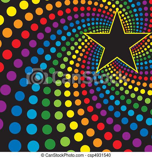 Star with rainbow swirl - csp4931540