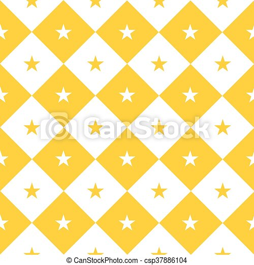 Star Yellow White Chess Board Diamond Background