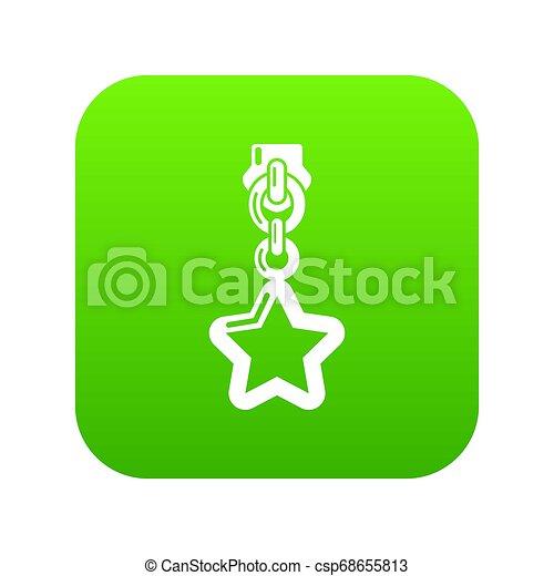 Star zip icon, simple style - csp68655813