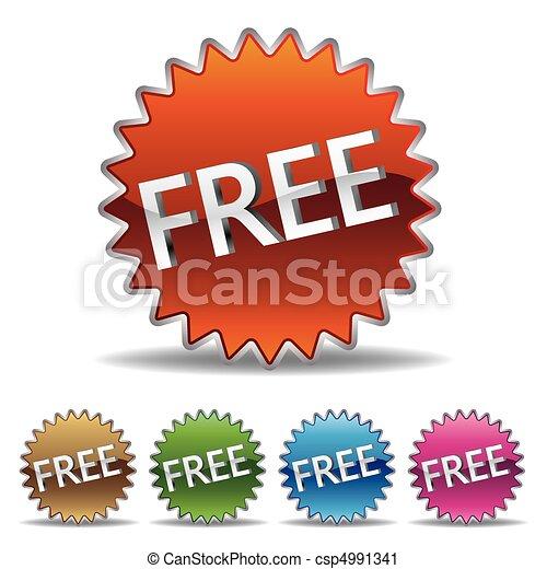 starburst, gratuite, étiquette - csp4991341