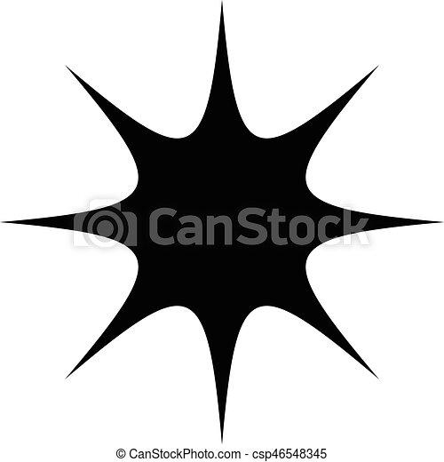 starburst sunburst or gleam glitter shape element silhouette