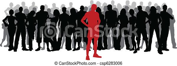 stare in piedi, folla, fuori - csp6283006