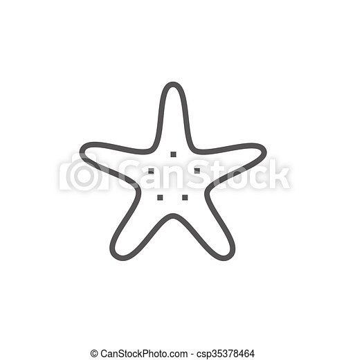 starfish line icon starfish thick line icon with pointed clip