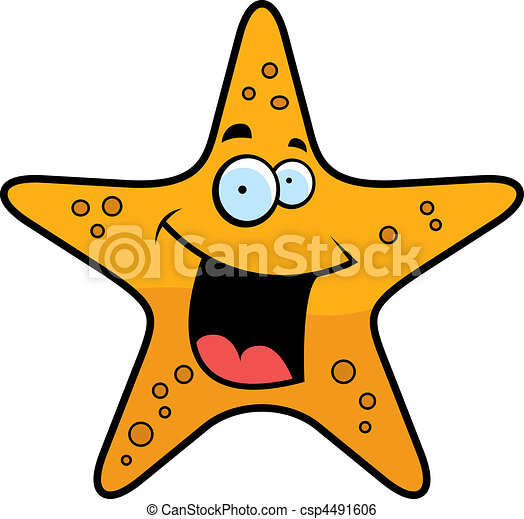 Starfish Smiling - csp4491606