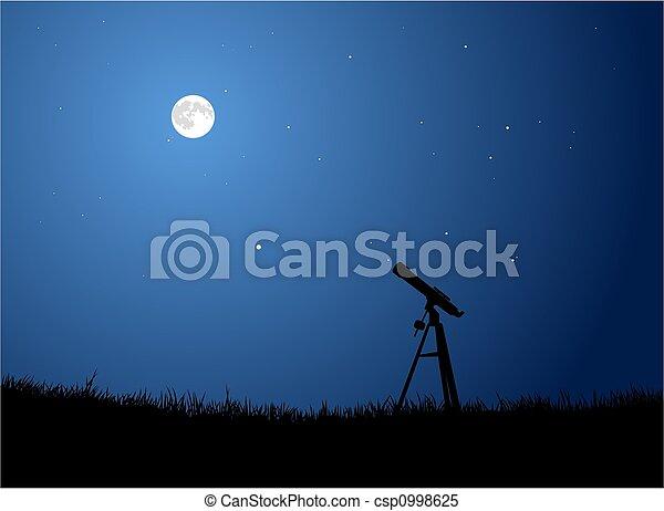 Stargazing with Full Moon - csp0998625