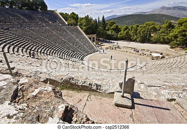 starożytna grecja, peloponisos, amfiteatr, epidaurus - csp2512366