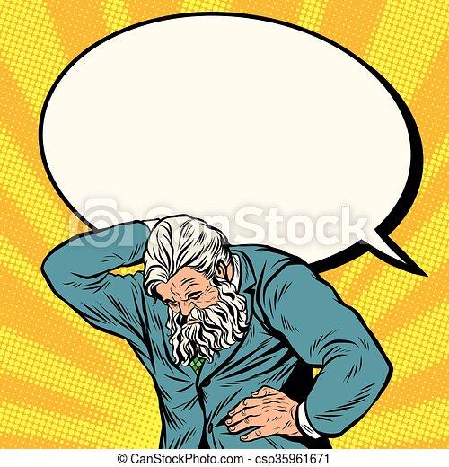 starożytny, atlas, biznesmen, komik, silny, bańka, człowiek - csp35961671