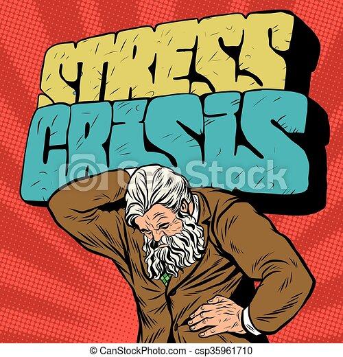 starożytny, siła, atlas, biznesmen, silny, kryzys, człowiek - csp35961710