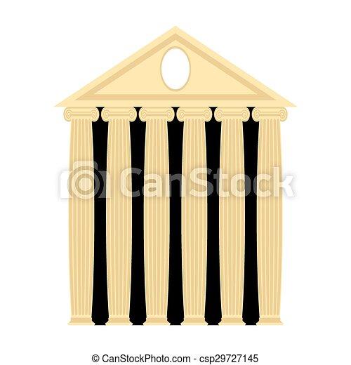 starobylý, illustration., columns., řečtina, vektor, architektura, temple. - csp29727145