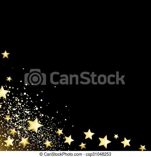 Starry black background - csp31048253