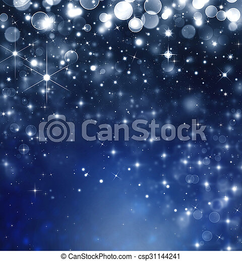 starry christmas background csp31144241 - Starry Christmas