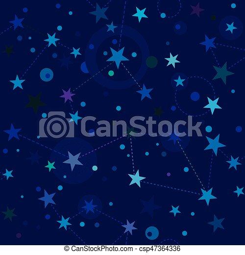Starry Night pattern swatch - csp47364336