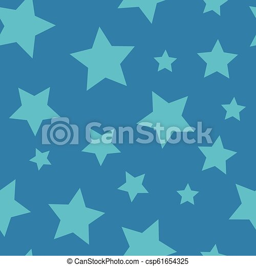 Starry Night - Seamless Background Pattern - csp61654325