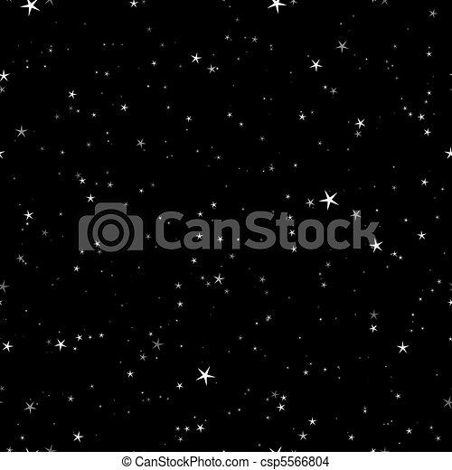 Starry night seamless pattern - csp5566804