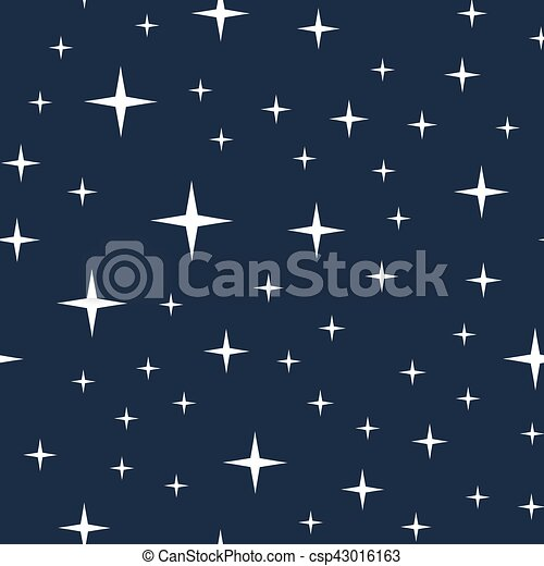 Starry night sky seamless pattern - csp43016163