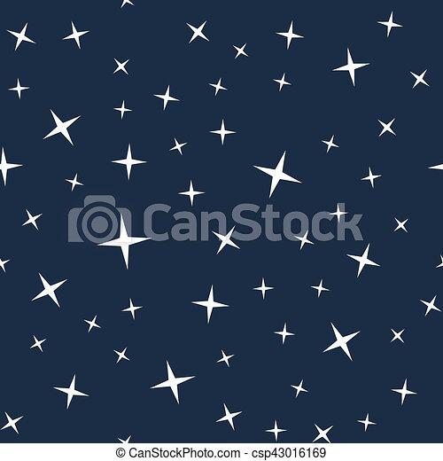 Starry night sky seamless pattern - csp43016169